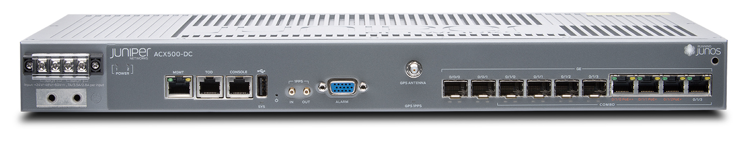 JUNIPER: ACX500 FANLESS MOBILE BACKHAUL ROUTER